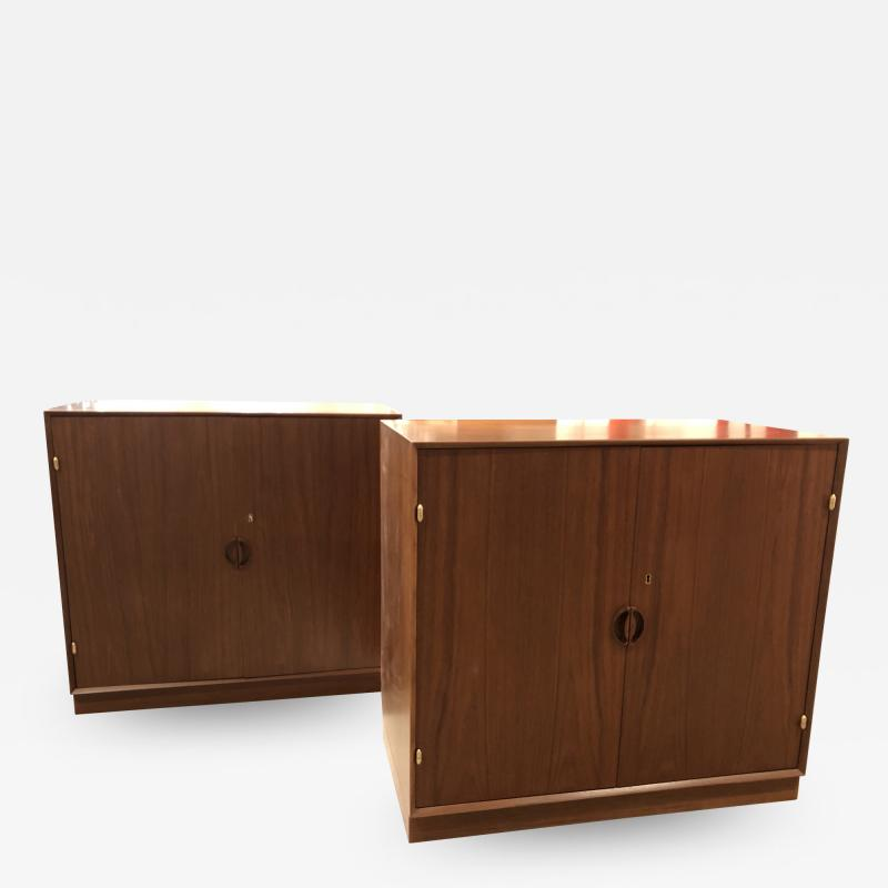Pair of Mid Century Cabinets by John Stuart Inc Stamped