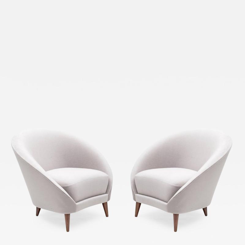 Pair of Mid Century Italian Style Lounge Chairs