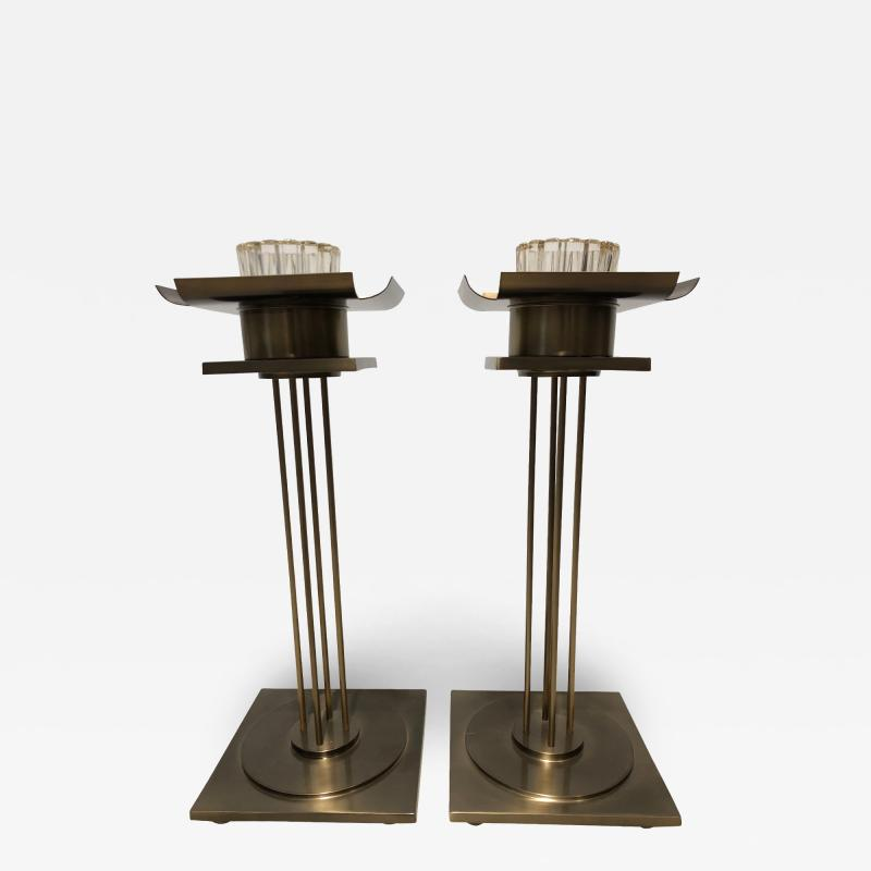 Pair of Mid Century Modern Candle Holders