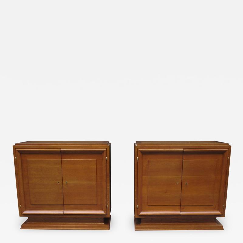 Pair of Mid Century Oak Cabinets