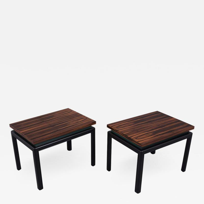 Pair of Mid Century Rosewood Side Tables