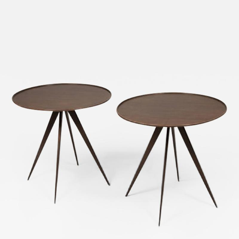 Pair of Mid Century Style Side Tables by ILIAD Design