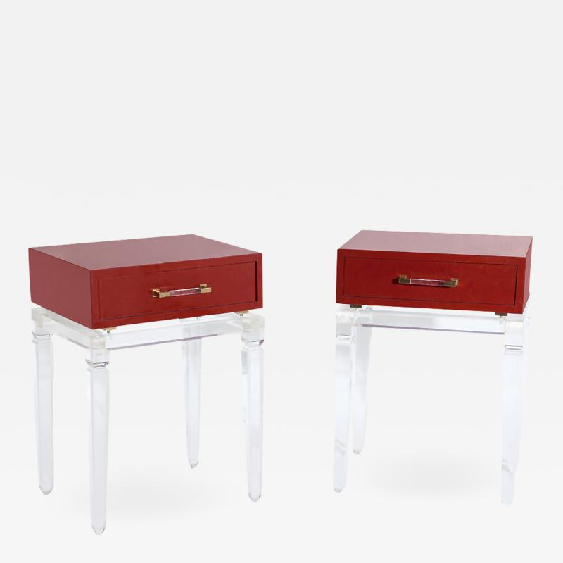 Pair of Modernist End Tables by Fabian