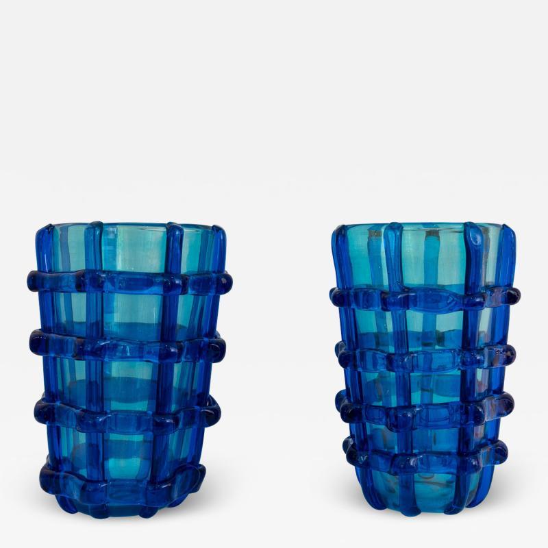 Pair of Murano vases signed Sergio Costantini