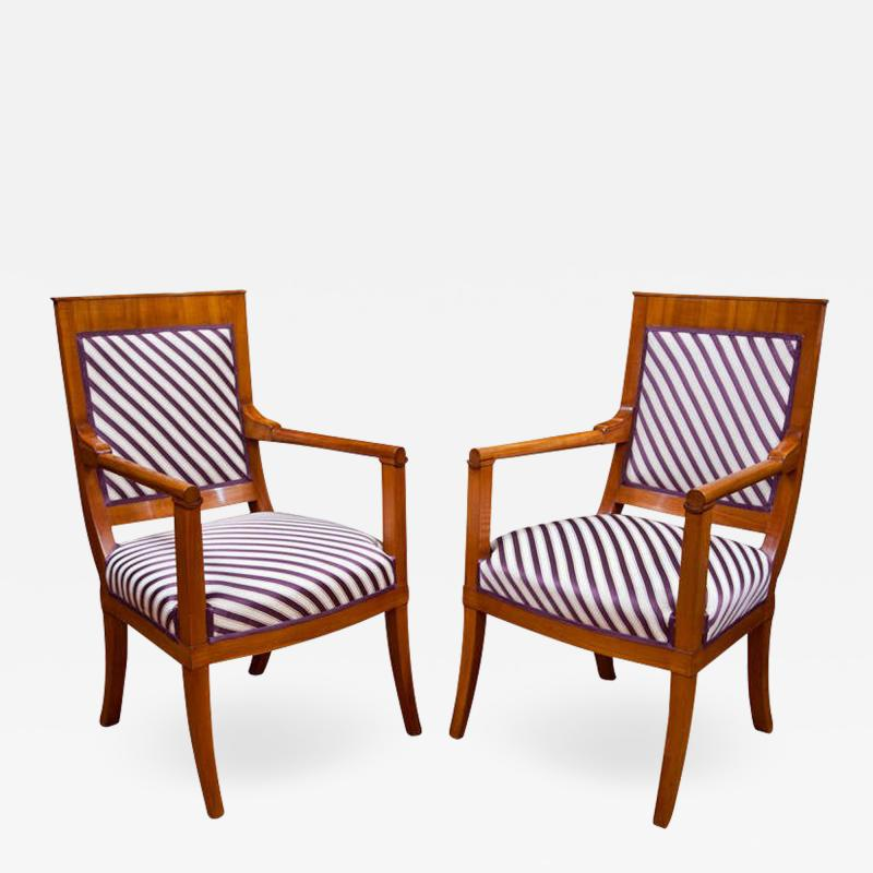 Pair of Neoclassic Fauteuils