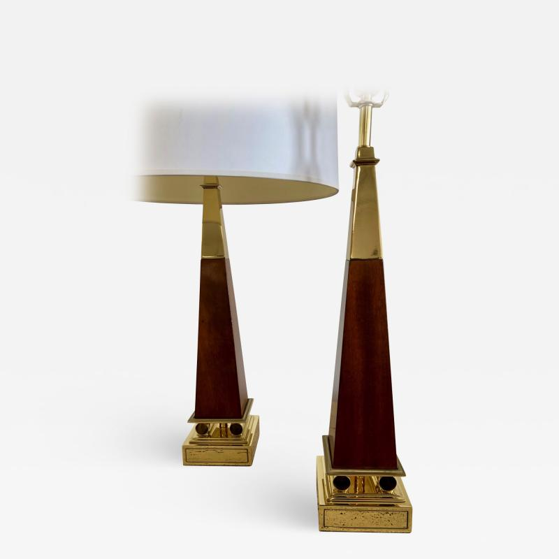 Pair of Obelisk Lamps