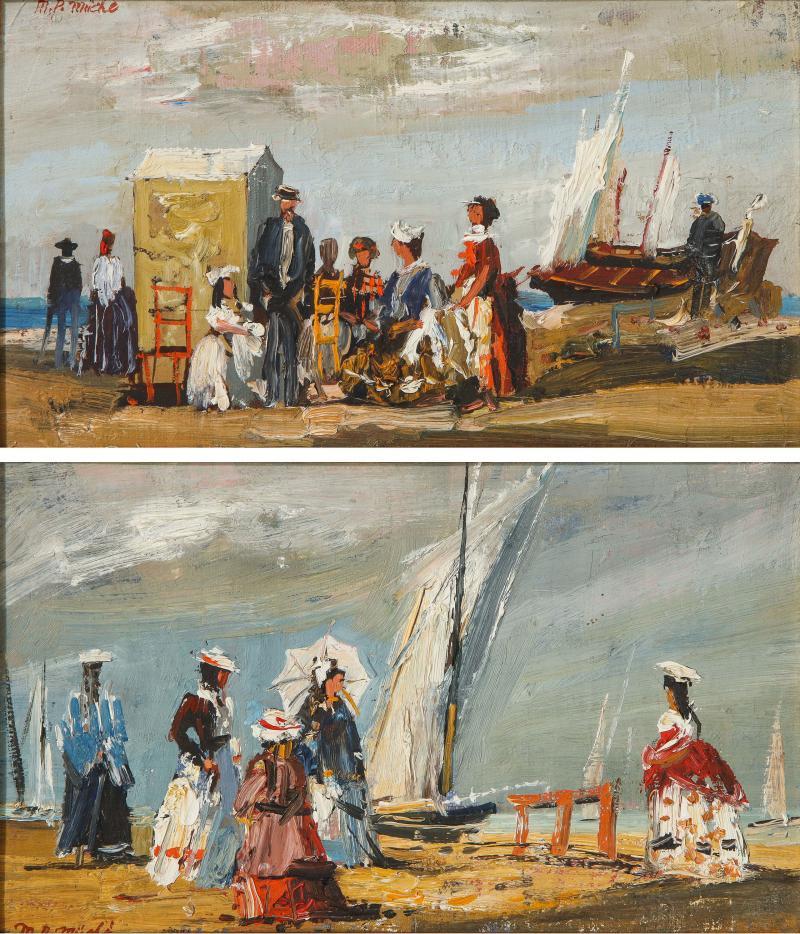 Pair of Oil Paintings The Beach
