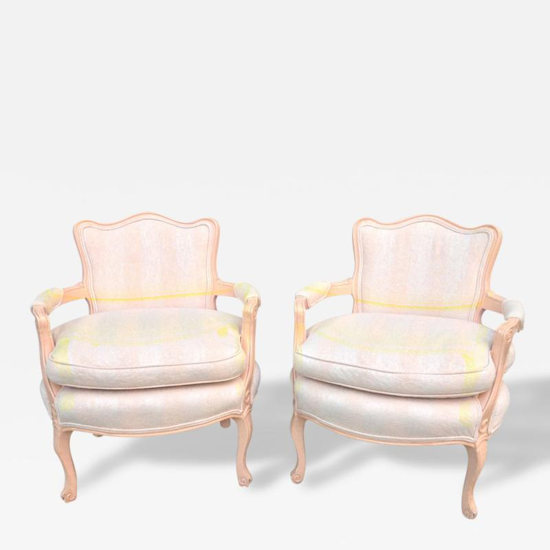 Pair of Petite Fauteuil Louis XV Chairs