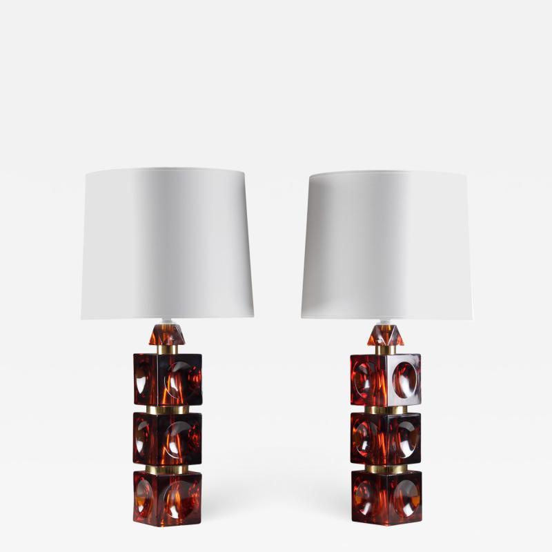 Pair of Rare Swedish Mid Century Table Lamps