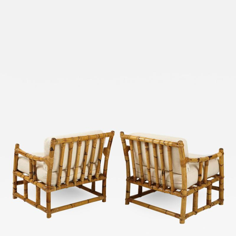 Pair of Rattan Fauteuils