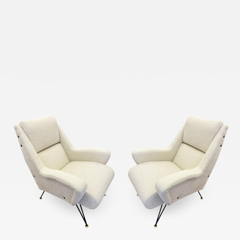 Pair of Sculptural Mid Century Armchairs