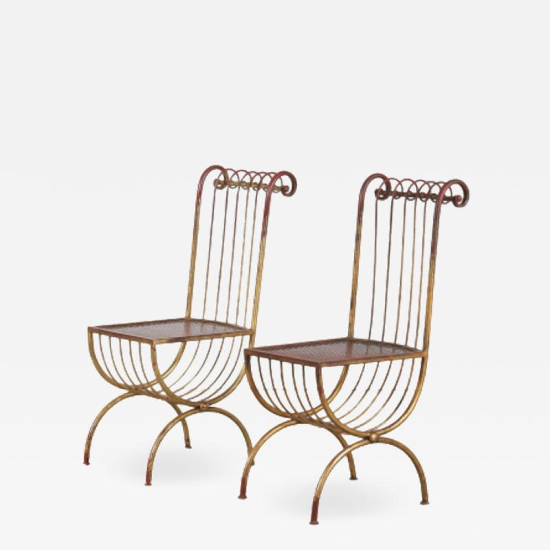 Pair of Side Chairs by S Salvadori Italy 1950