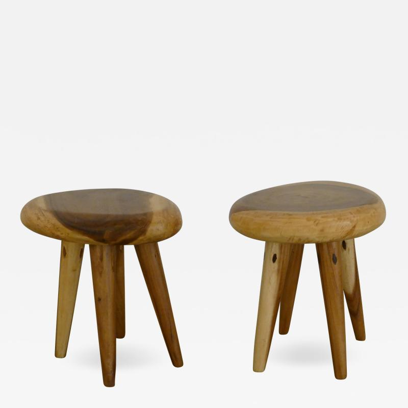 Pair of Side Tables in Acacia