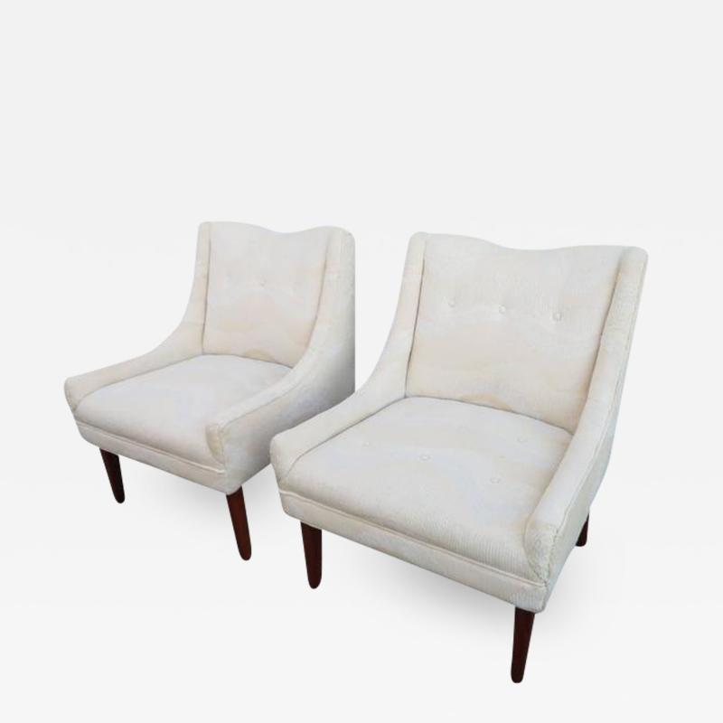 Pair of Slipper Lounge Chairs Mid Century Modern