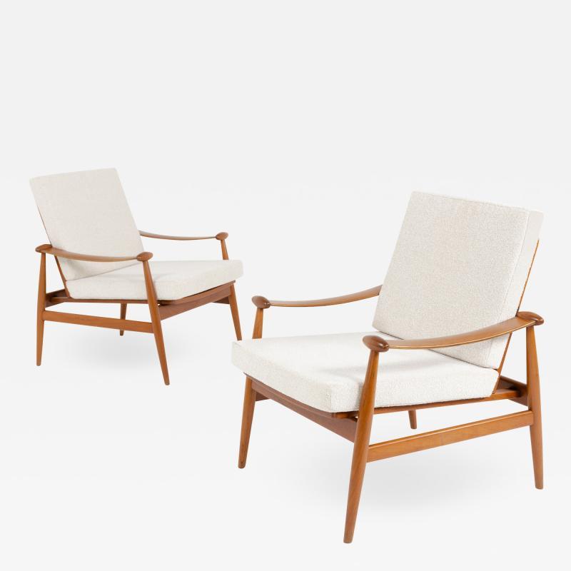 Pair of Spade Armchairs by Finn Juhl