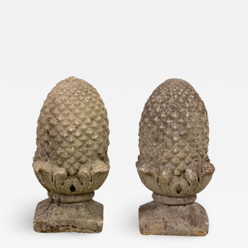 Pair of Stone Finials
