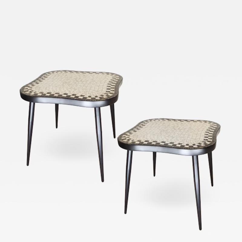 Pair of Swedish Tile Tables