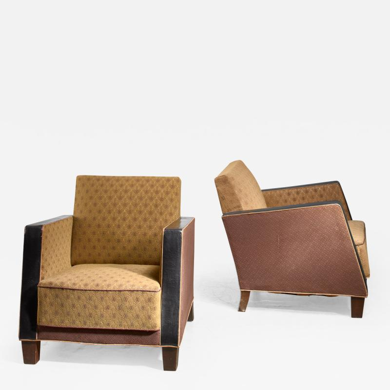 Pair of Swedish club chairs 1930s