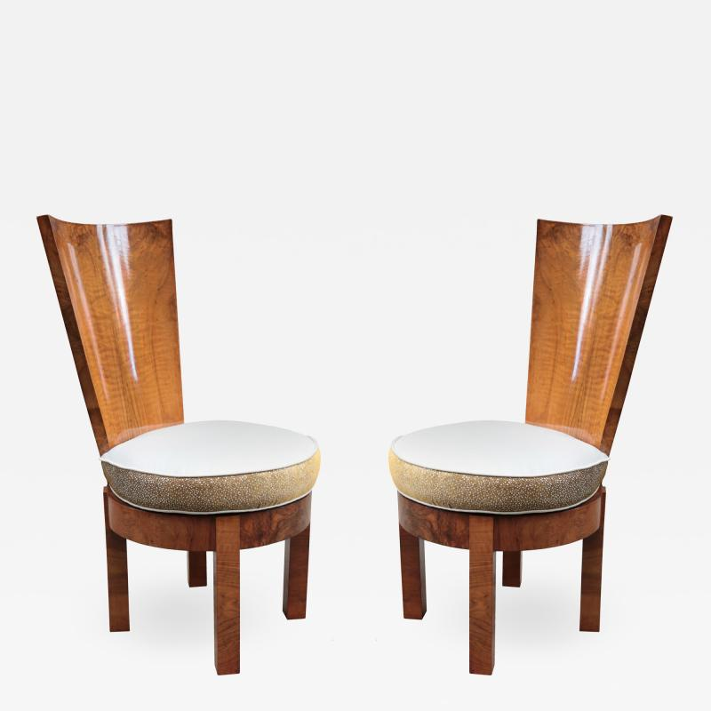Pair of Tallback Cubist Sidechairs