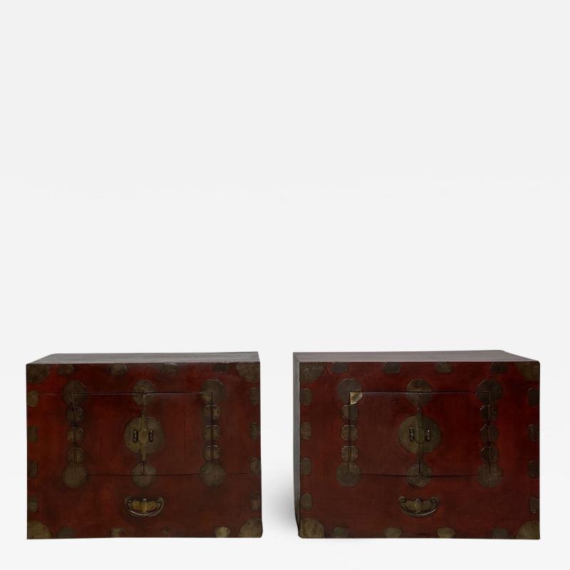 Pair of Tansu Korea Circa 1890