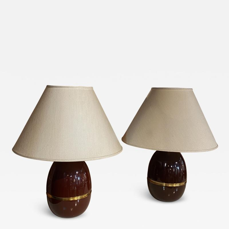 Pair of Two Vintage Italian Table Lamp 1960s