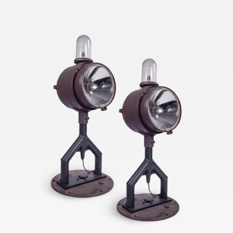 Pair of Unusual Runway Lights
