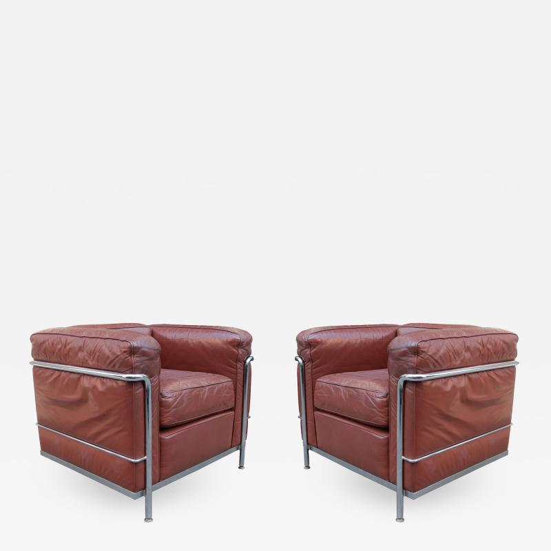 Pair of Vintage LC2 Corbusier Armchairs