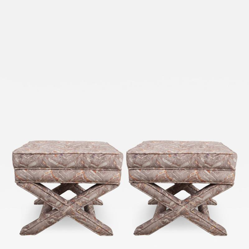 Pair of Vintage X Benches
