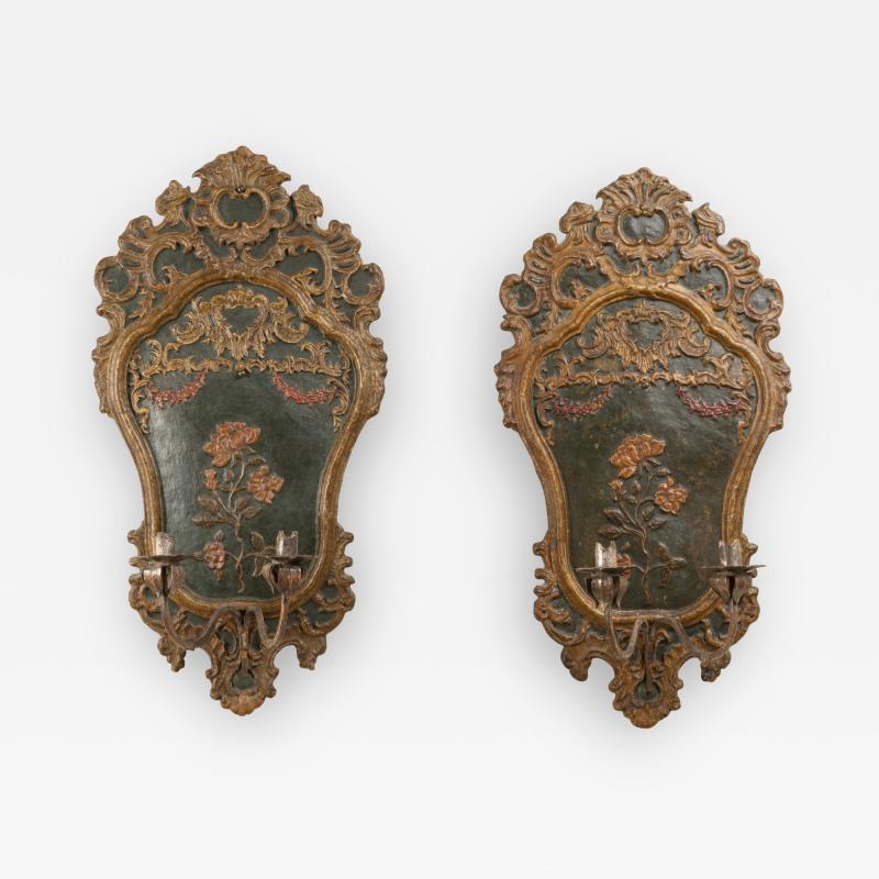 Pair of italian 18th century sconces