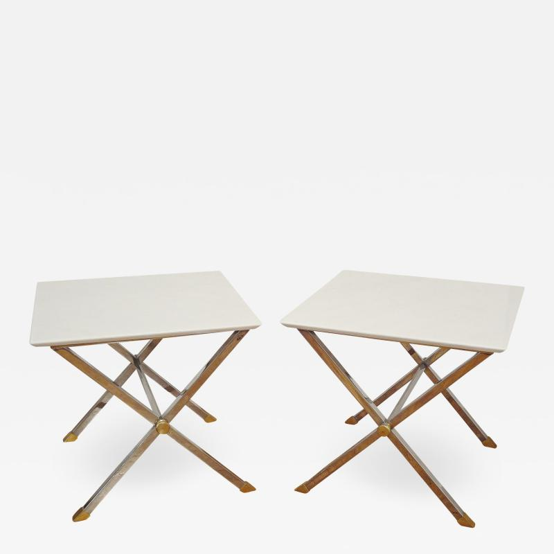 Pair of square coffee tables Italy 1975