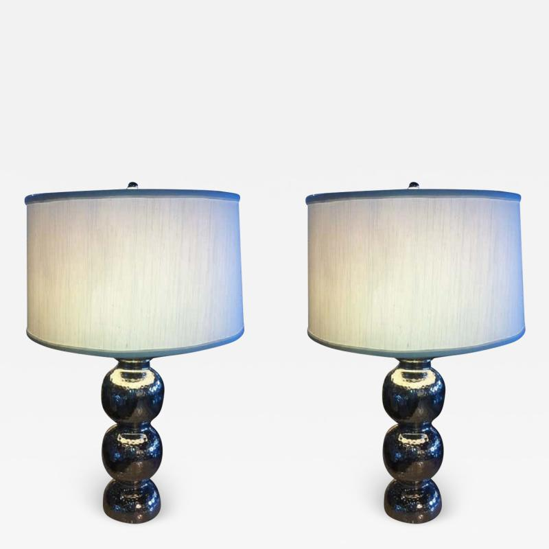 Pairs hammered Lamps