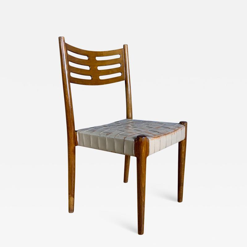 Palle Suenson 1940s Palle Suenson Leather Strap Chair for Holger Knak Jensen