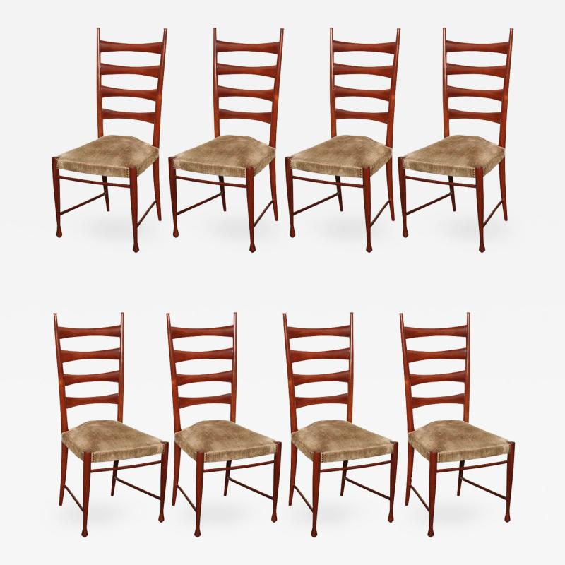 Paolo Buffa Eight Dining Chairs by Paolo Buffa
