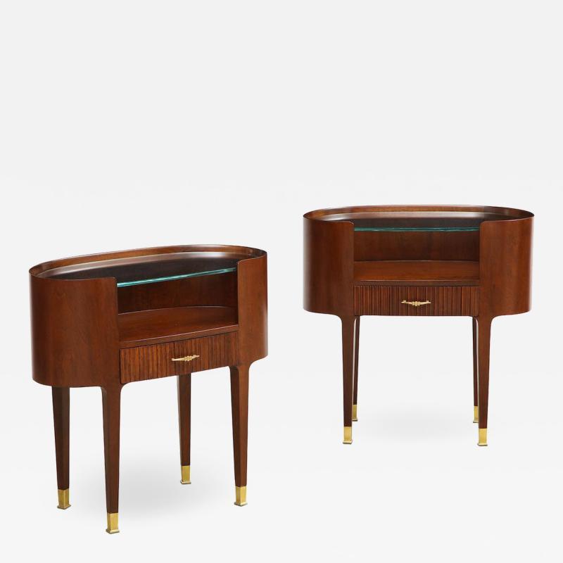 Paolo Buffa Oval Side Tables by Paolo Buffa