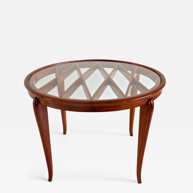 Paolo Buffa PAOLO BUFFA Grid Pattern Walnut Coffee Table 1940