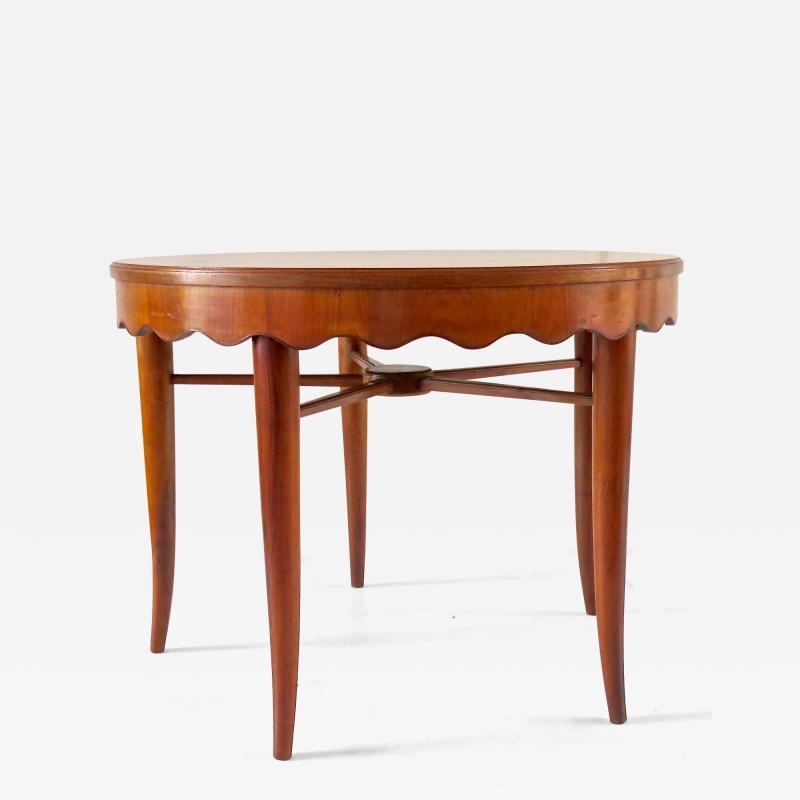 Paolo Buffa PAOLO BUFFA unique round dining table cherrywood five legs 1950