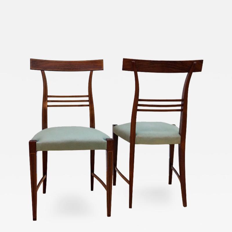 Paolo Buffa Pair Rosewood Chairs by Paolo Buffa