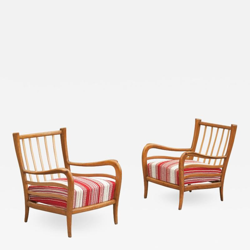 Paolo Buffa Pair of Armchairs attributed to Paolo Buffa