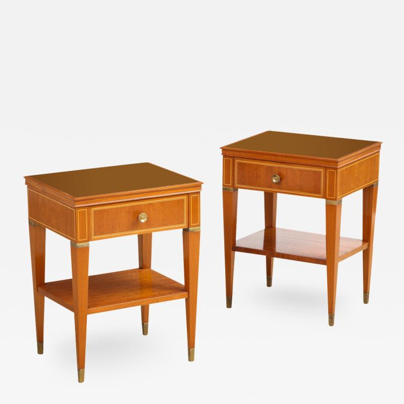 Paolo Buffa Pair of Bedside Tables by Paolo Buffa