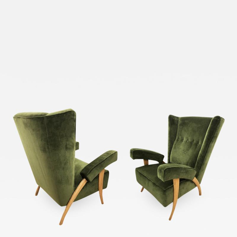 Paolo Buffa Pair of Paolo Buffa Armchairs Italy 1950s