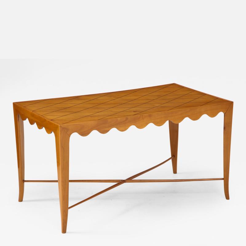 Paolo Buffa Paolo Buffa Coffee table with Scalloped Apron Italy c 1950