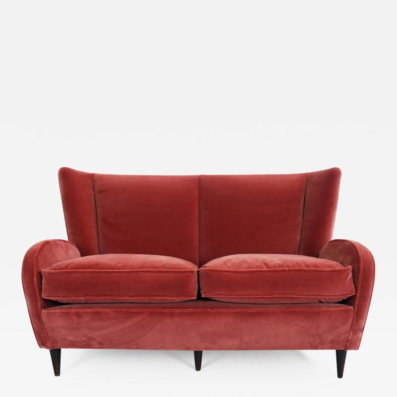 Paolo Buffa Paolo Buffa Deep Rose Love Seat Sofa