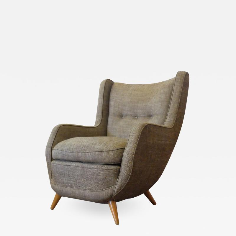 Paolo Buffa Paolo Buffa Italian Mid Century Wingback Armchair from the 1950s