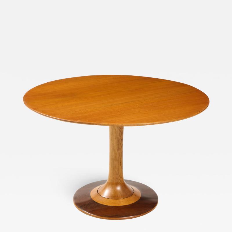 Paolo Buffa Paolo Buffa Oak and Rosewood Pedestal Dining Table