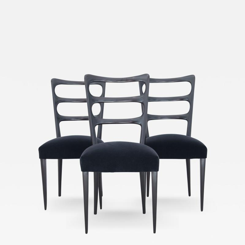 Paolo Buffa Paolo Buffa Set of Six Wood Chairs