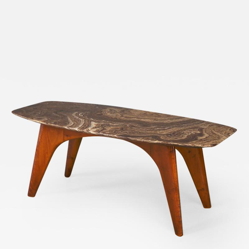 Paolo Buffa Rare table by Paolo Buffa in lunar marble in perfect condition