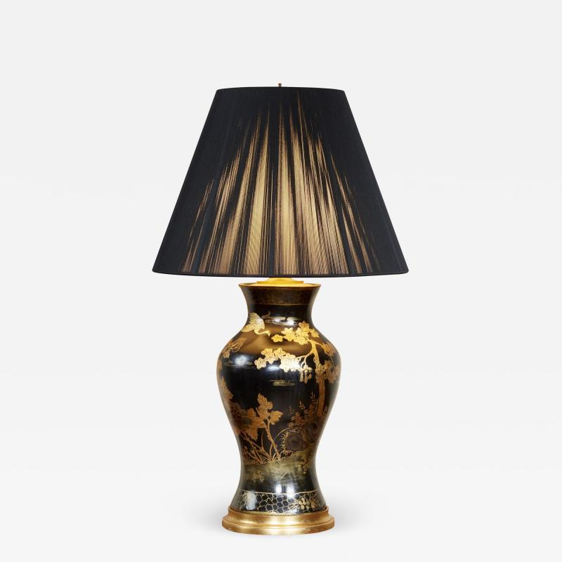 Papier Mache Vase as Lamp