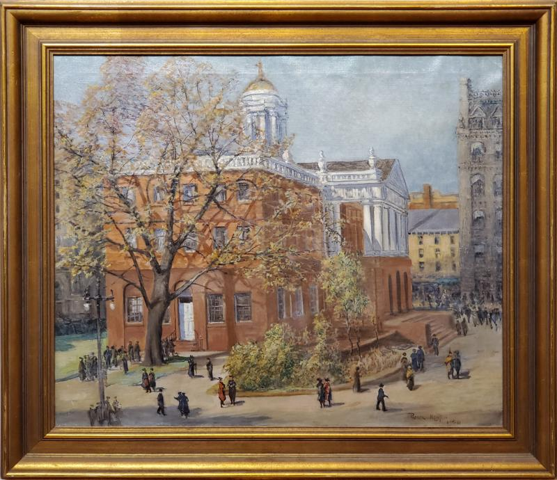 Parker Newton View of the Old State House in Hartford Connecticut circa 1920