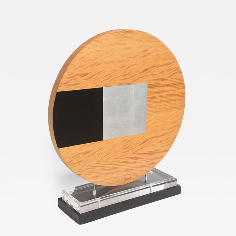 Pascal Pierme American Abstract Wood Sculpture on Stand Pascal Pierme