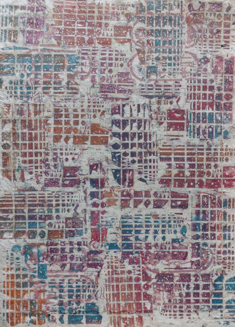 Pat Hammerman Handmade Paper II Framed